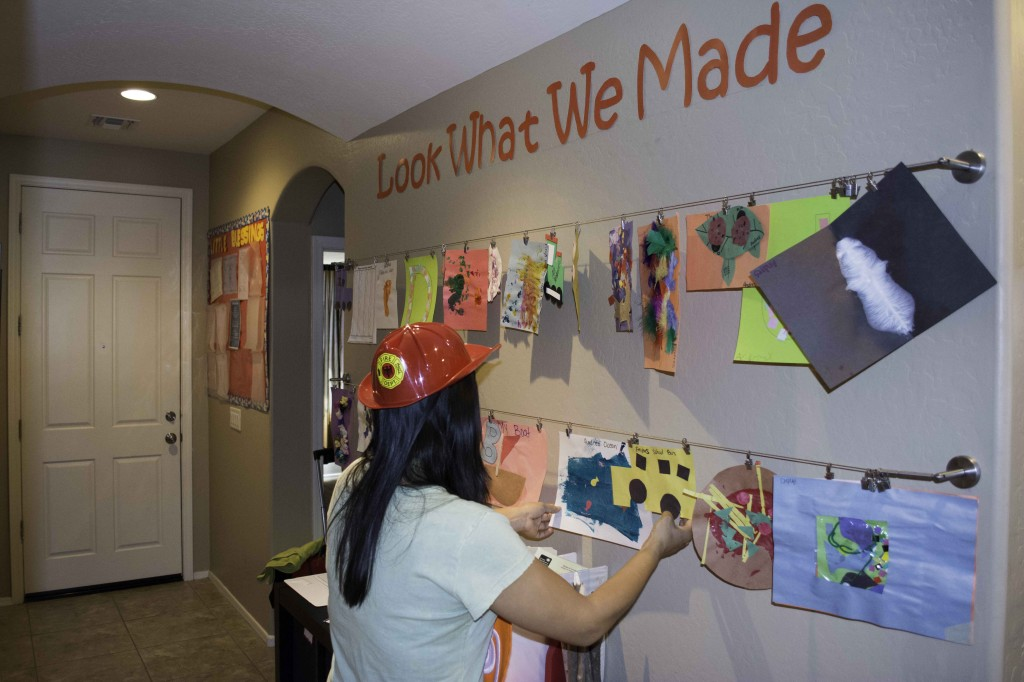 We show off our art work every day for everyone to see. Our art is ready for pickup every Friday afternoon.
